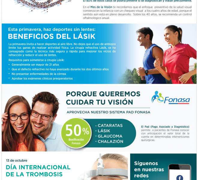 Visión Pasteur Octubre | Beneficios del Lasik - Mes de la Visión - Día Internacional de la Trombosis