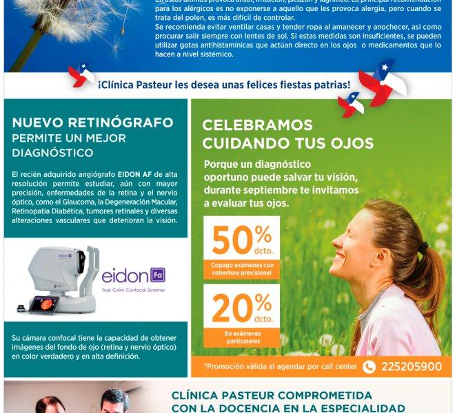 Visión Pasteur Septiembre | Retinografo - Cuídate de las Alergias