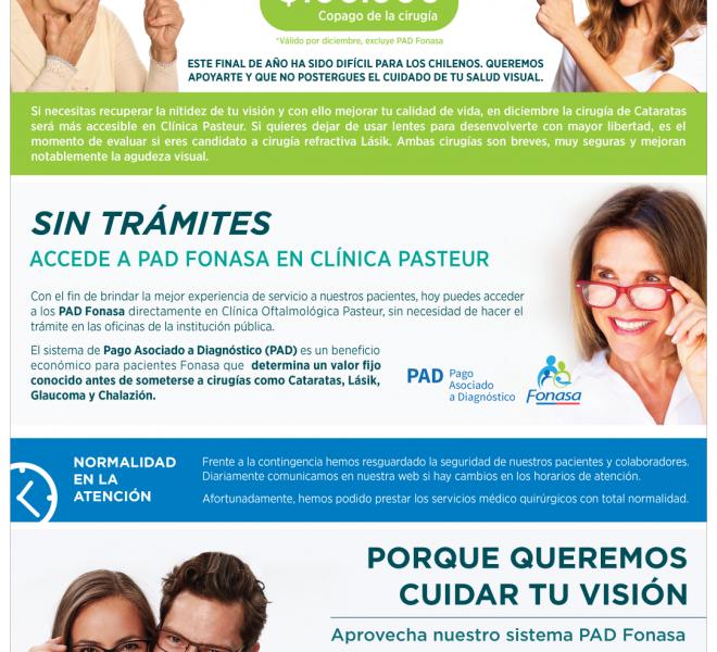 Visión Pasteur Diciembre | Cirugías de Cataratas y Lásik